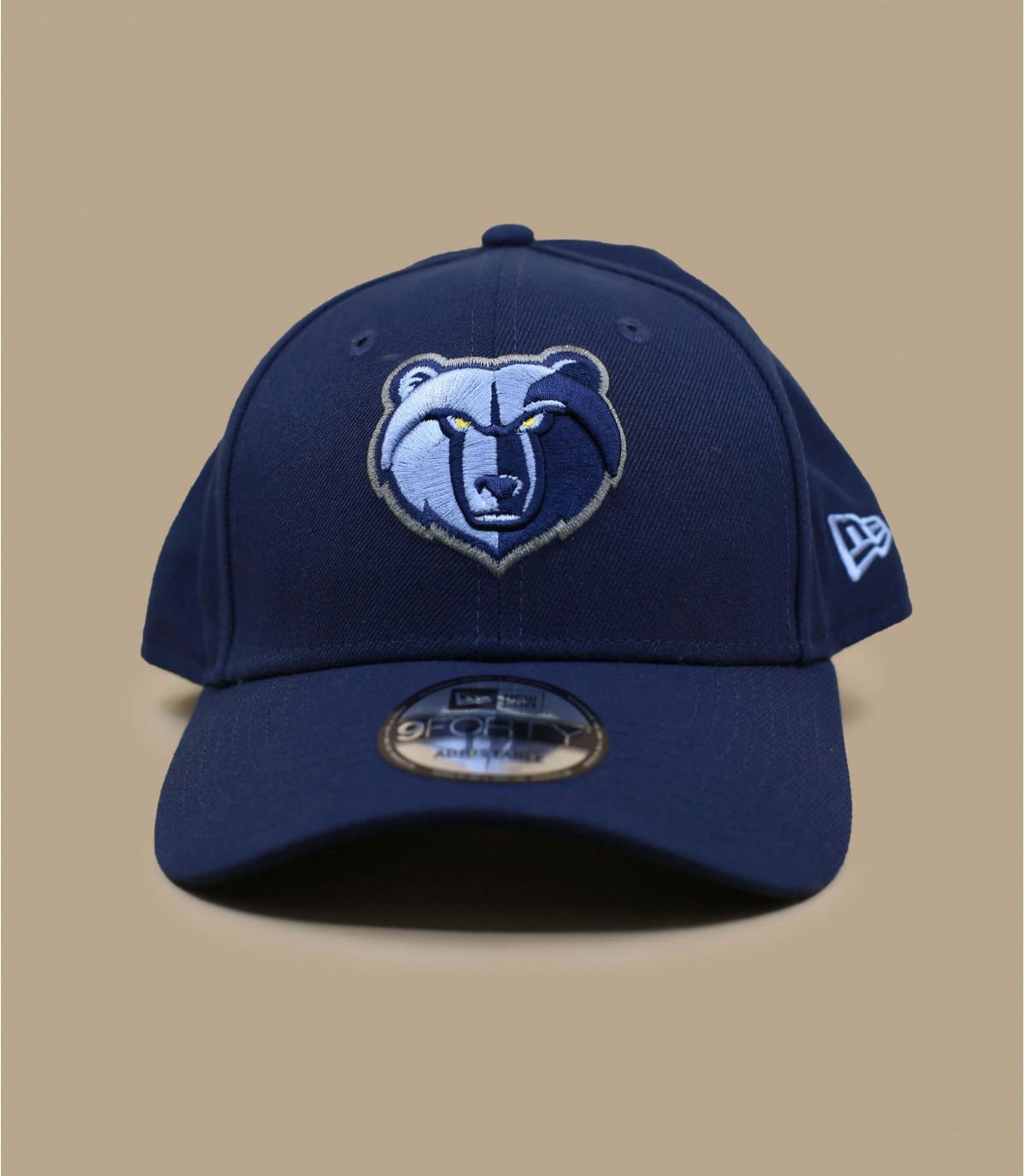 blu navy Grizzlies cap