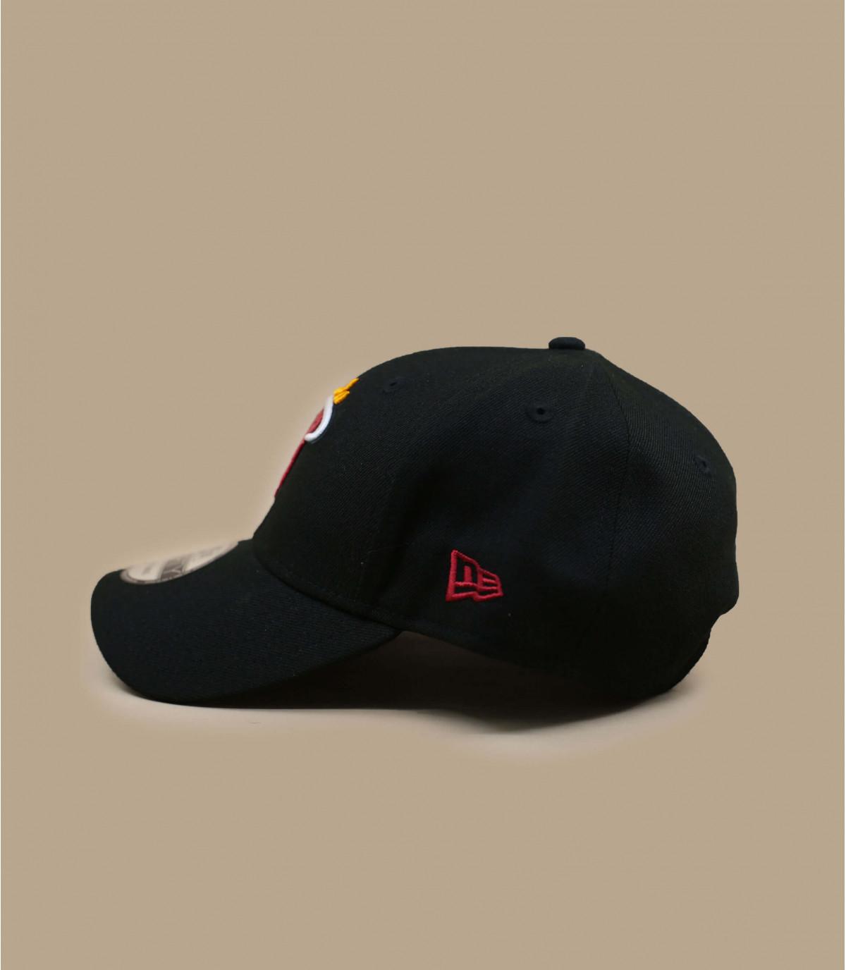 NBA Heat cap nero