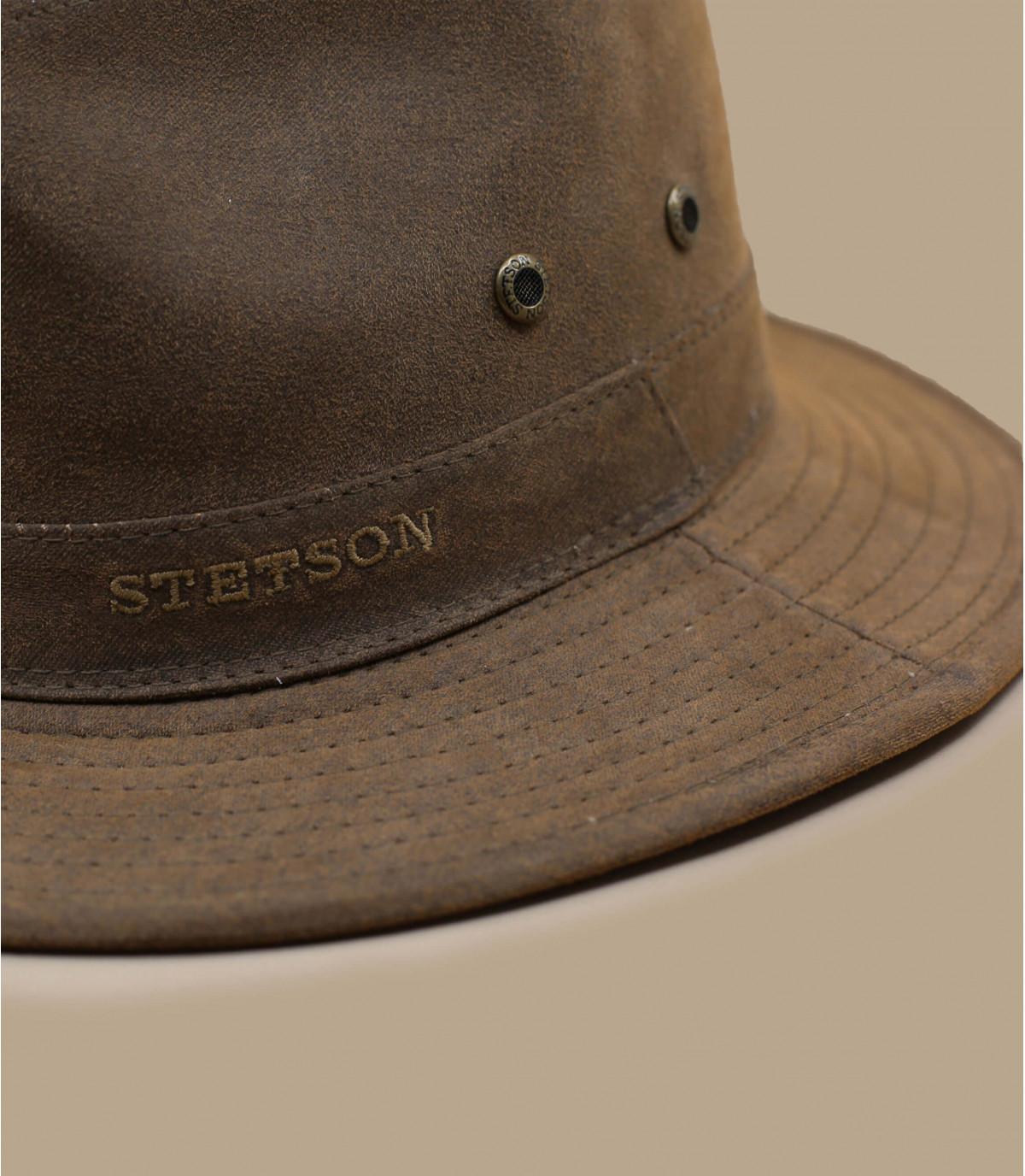 cappello di cotone marrone