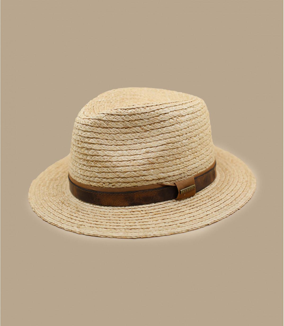 Cappello di paglia beige Stetson