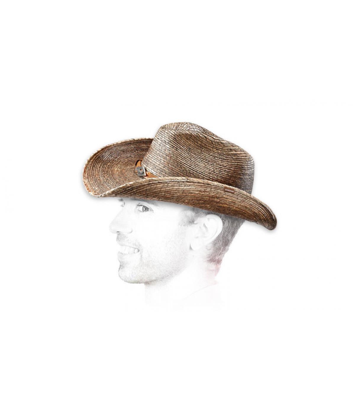 Cappello paglia cow boy uomo