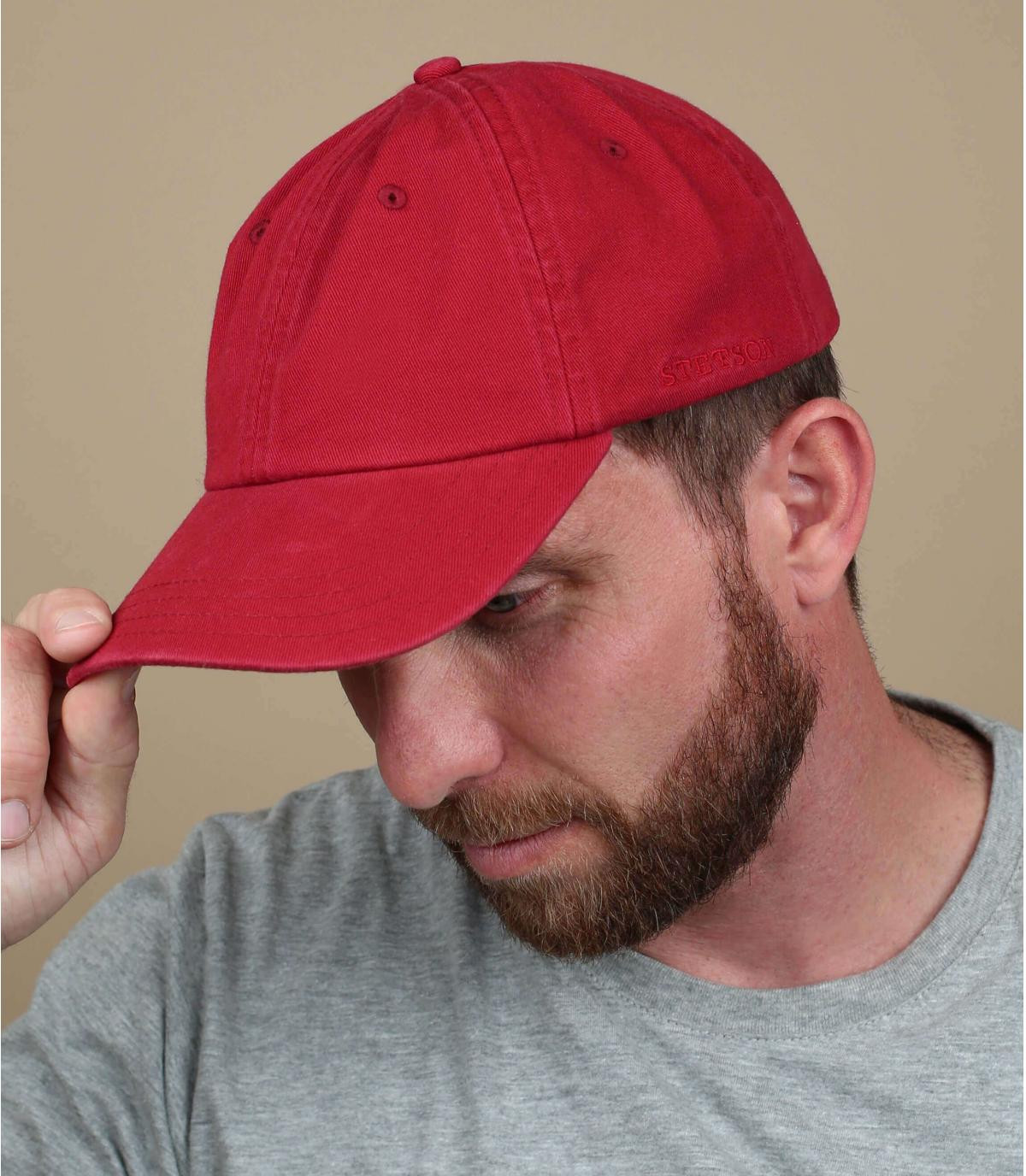 Cappellino trucker Stetson rosso