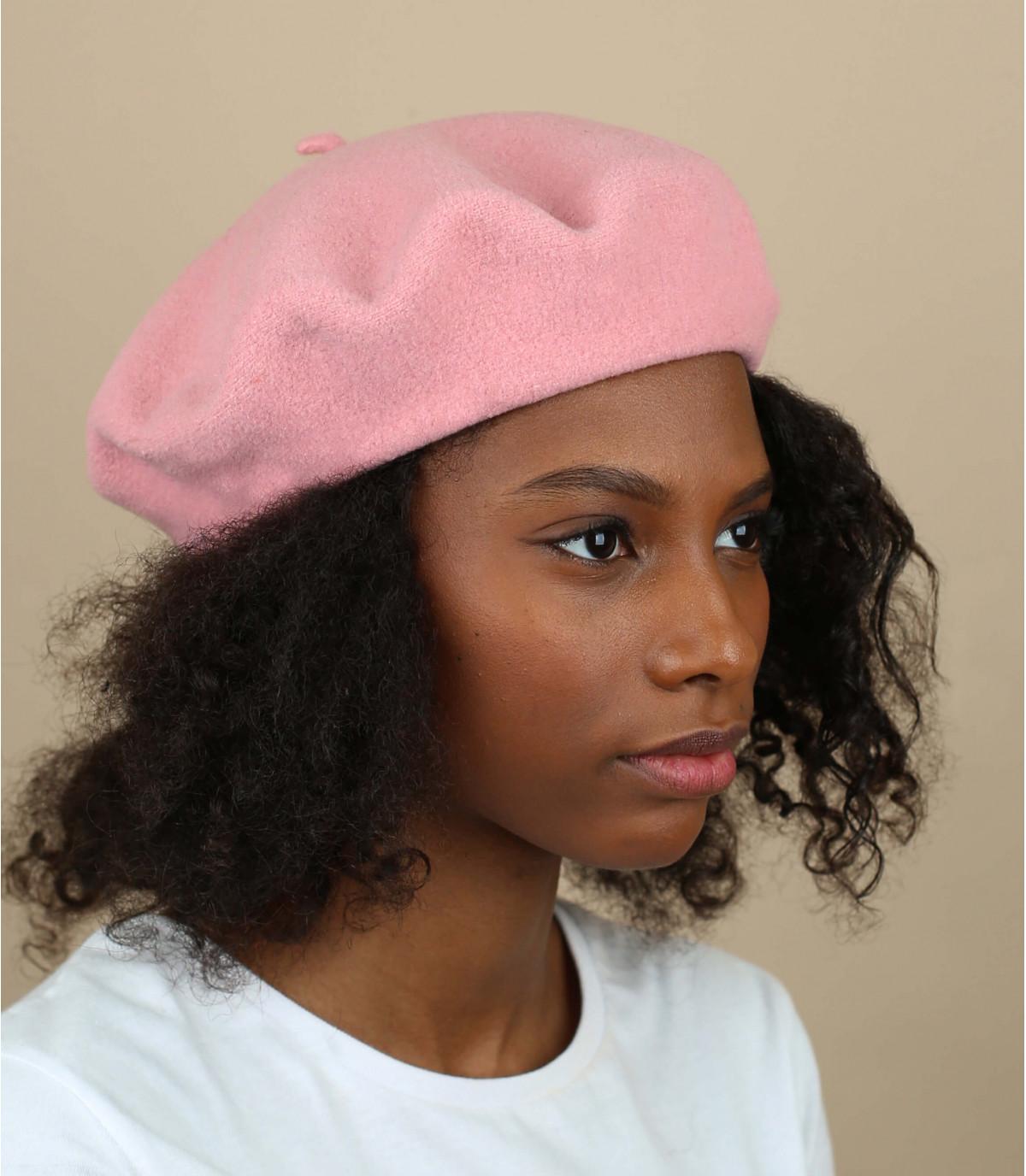Luce berretto di lana rosa