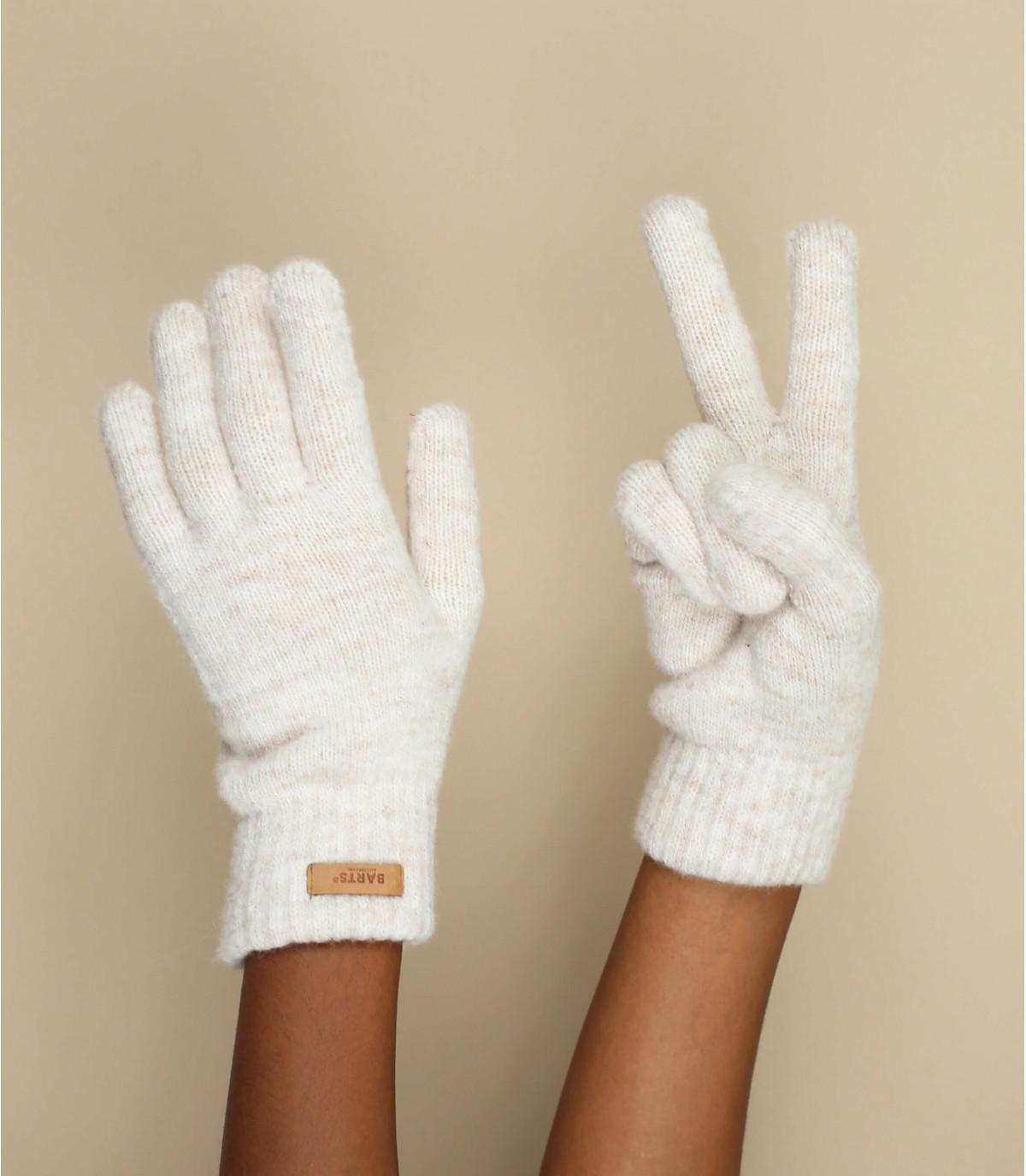 guanti beige