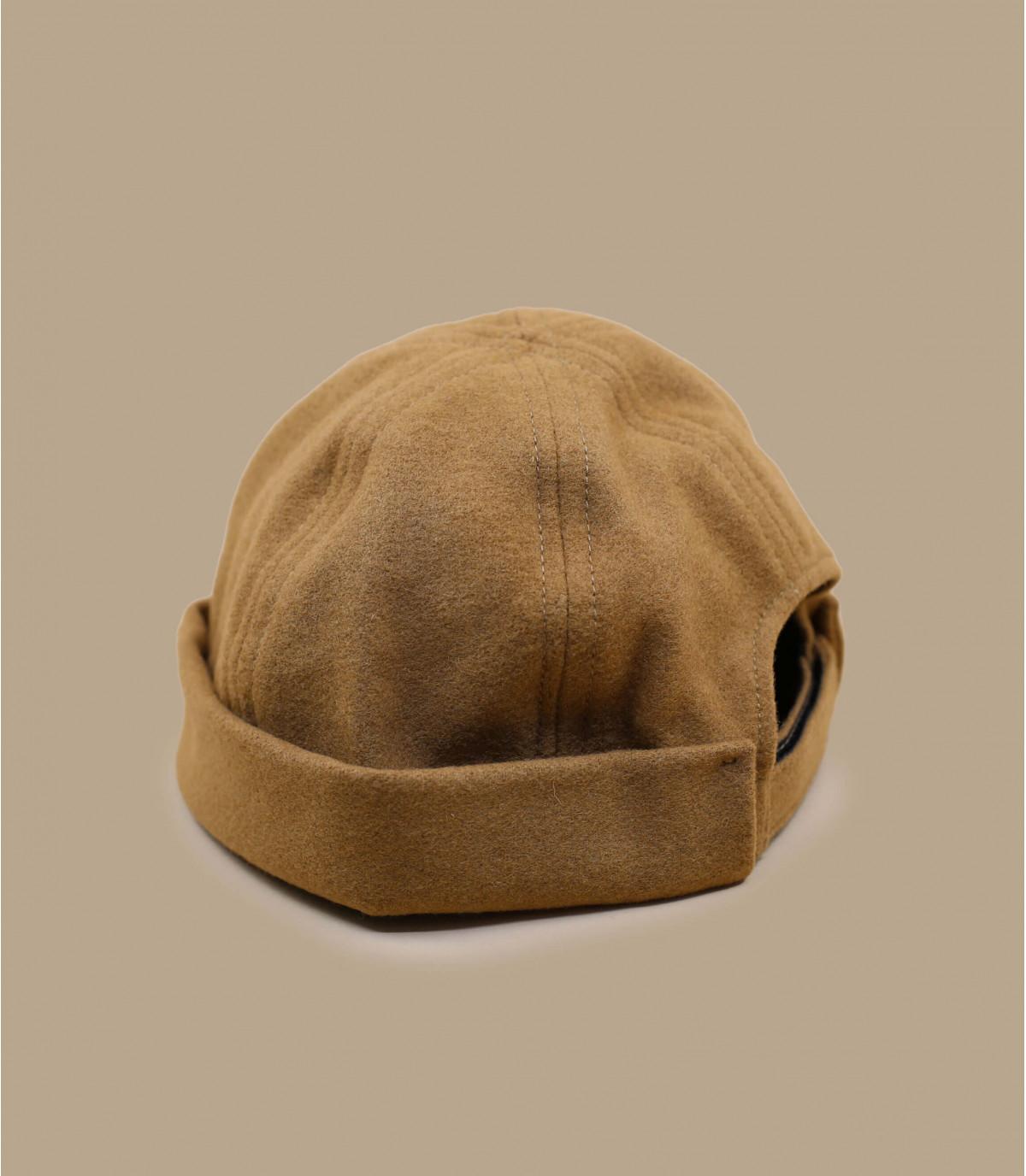 cappello docker in lana beige