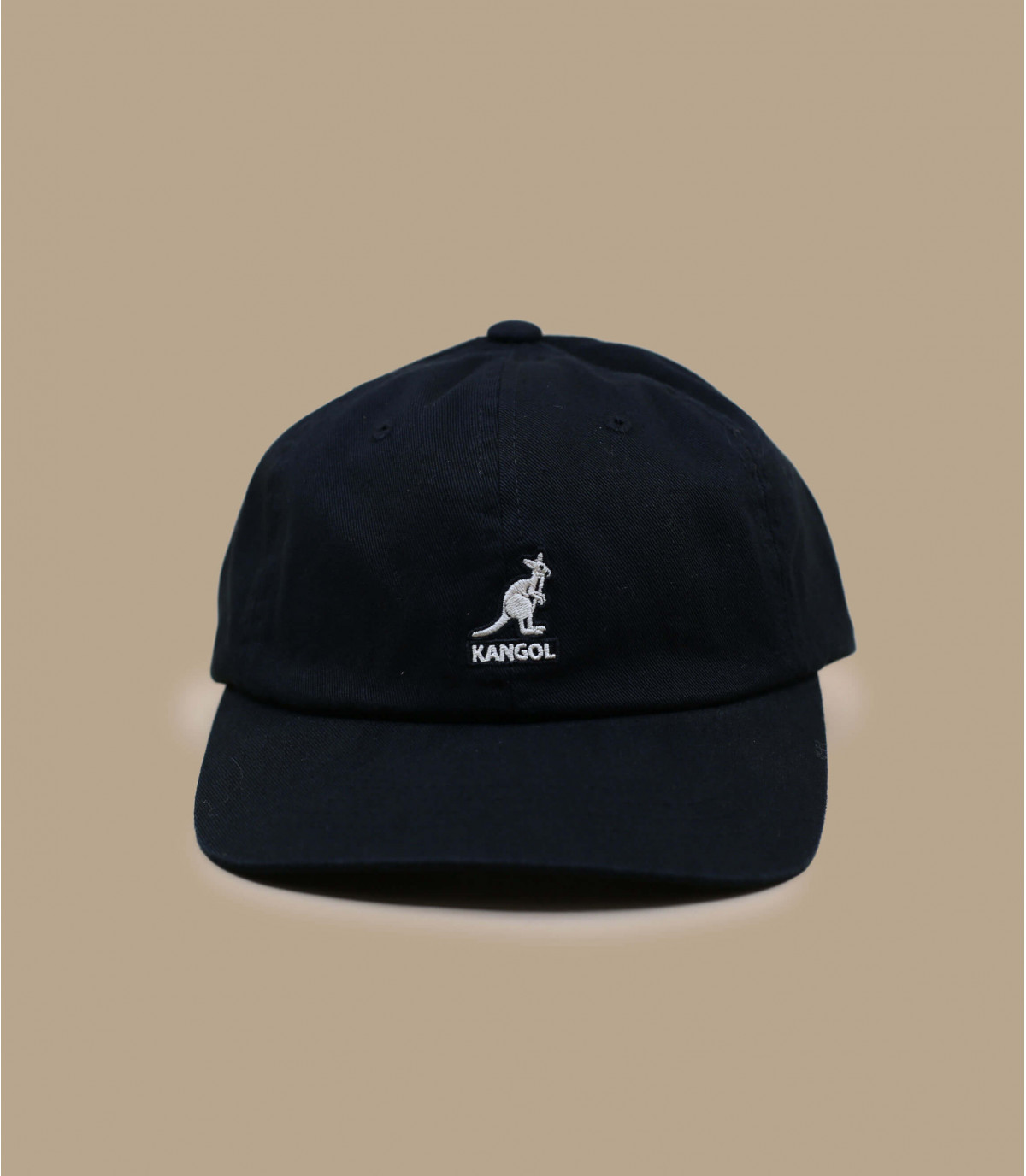 berretto da baseball nero di cotone Kangol