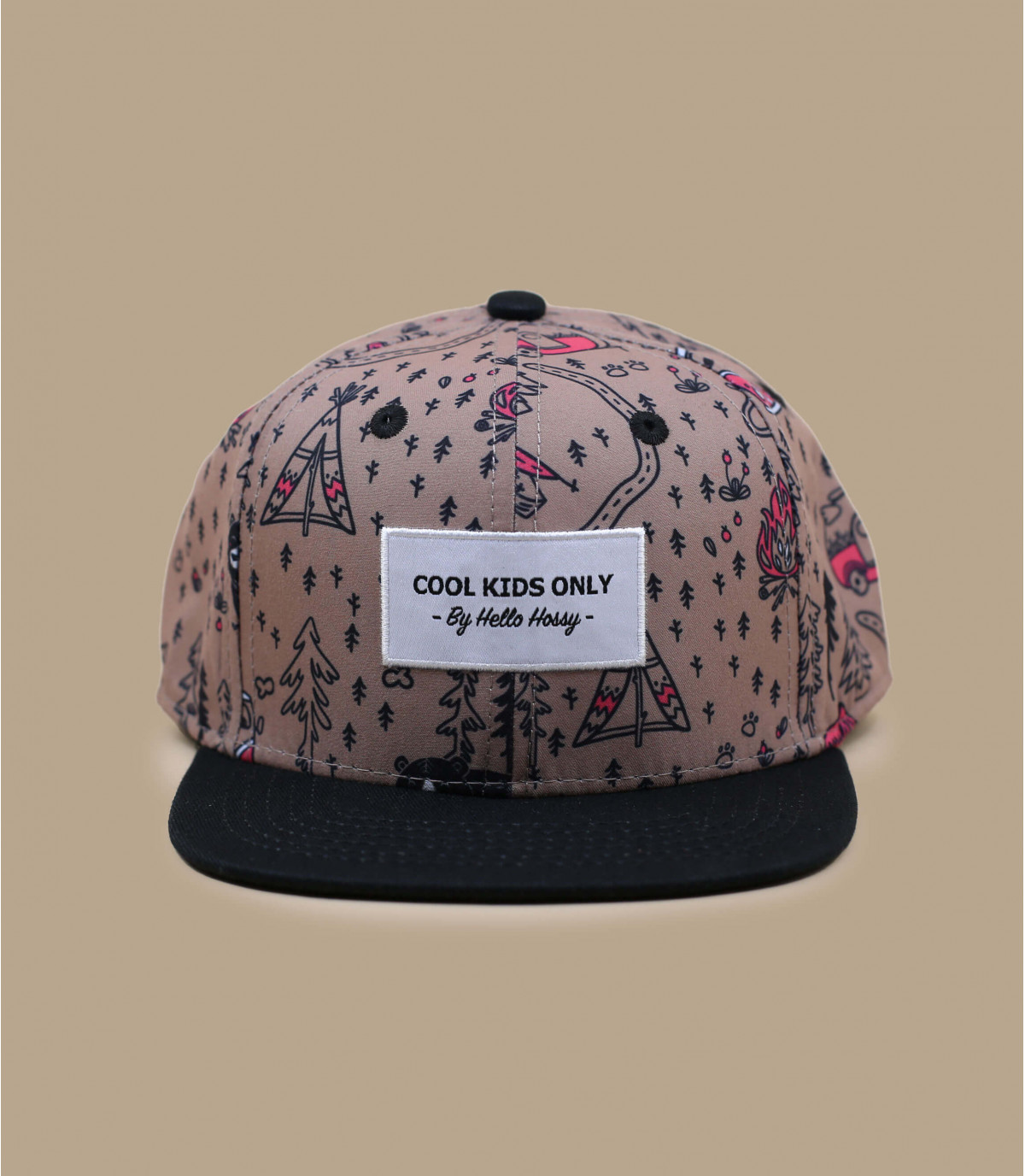 cappello stampa foresta