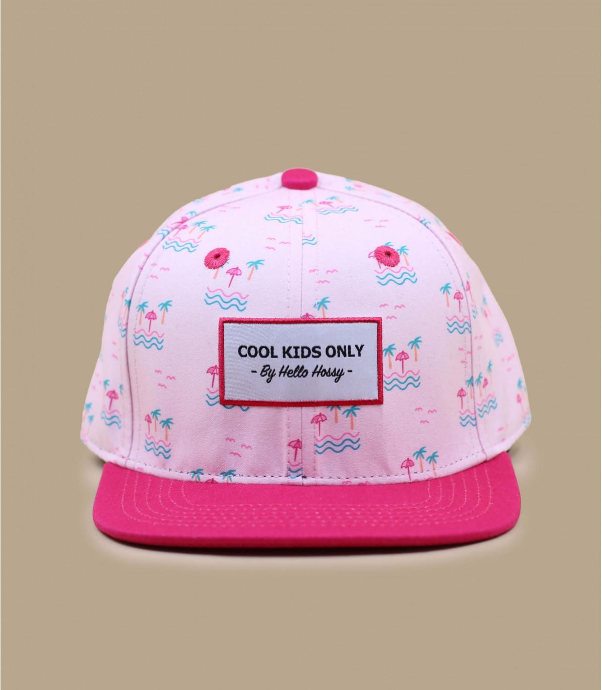 berretto da bambino rosa palm