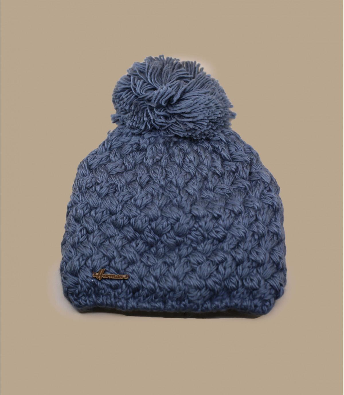 bobble il cappello di lana grigia