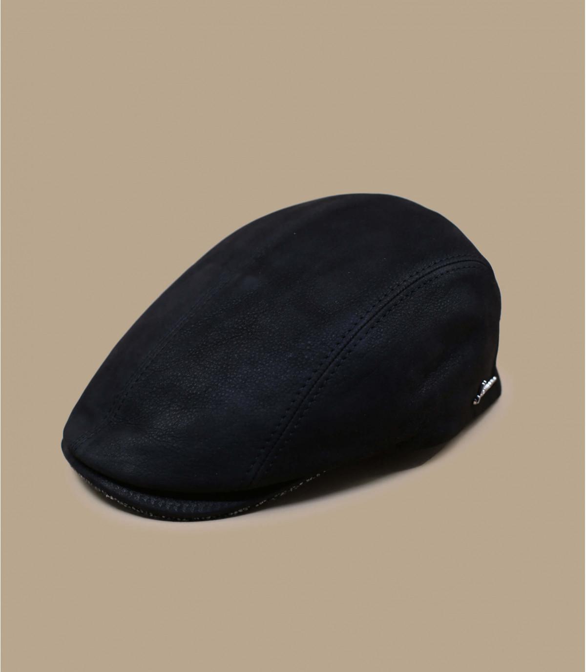 pelle nera berretto Herman