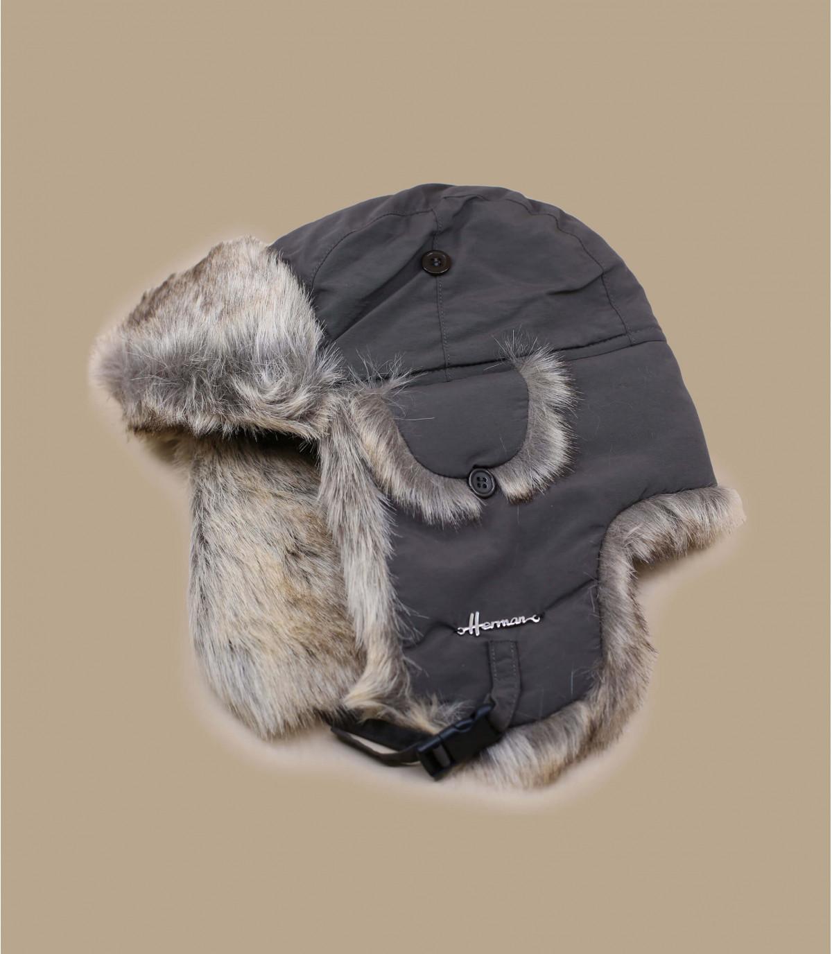 cappello di pelliccia marrone