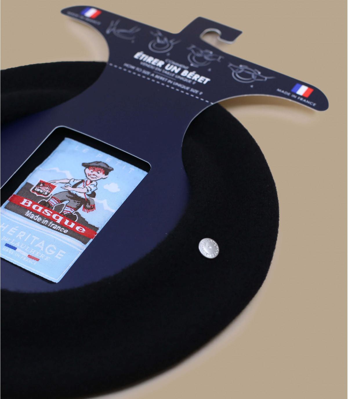 Dettagli Berretto piccolo basco nero - image 2