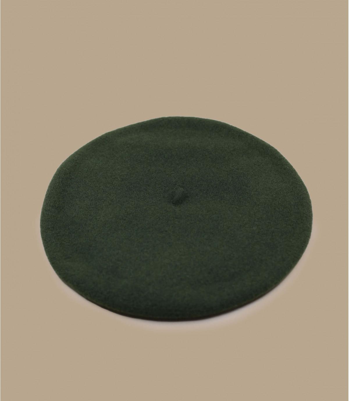 berretto di lana verde raddoppiato