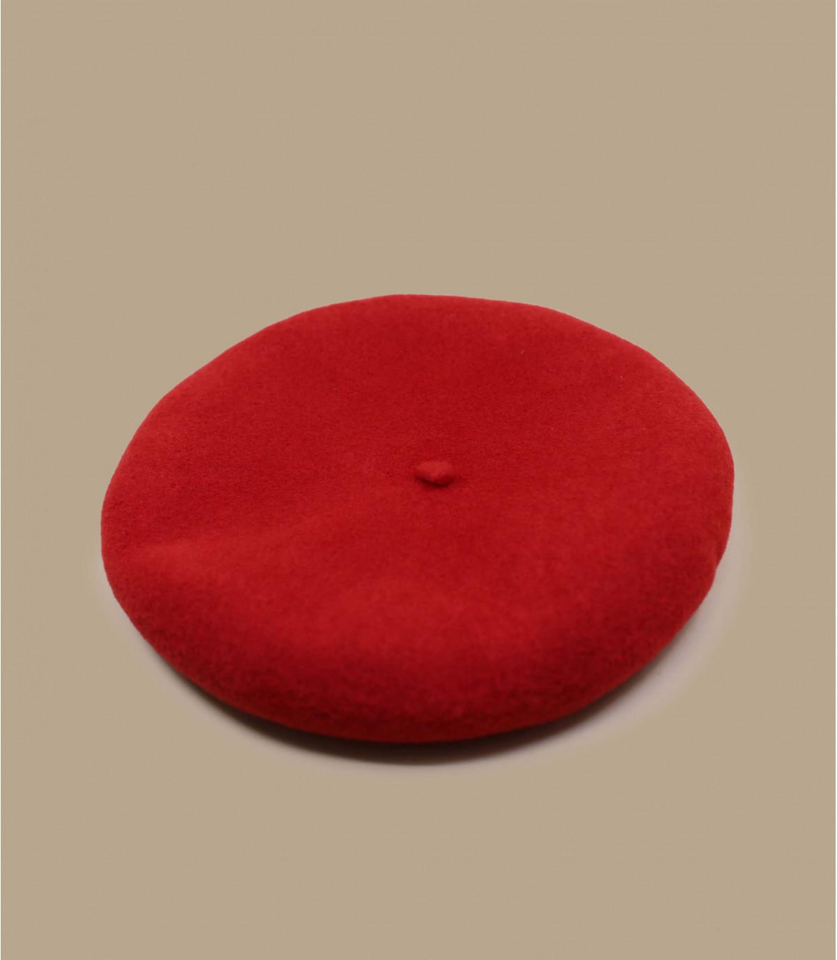 berretto rosso in cashmere