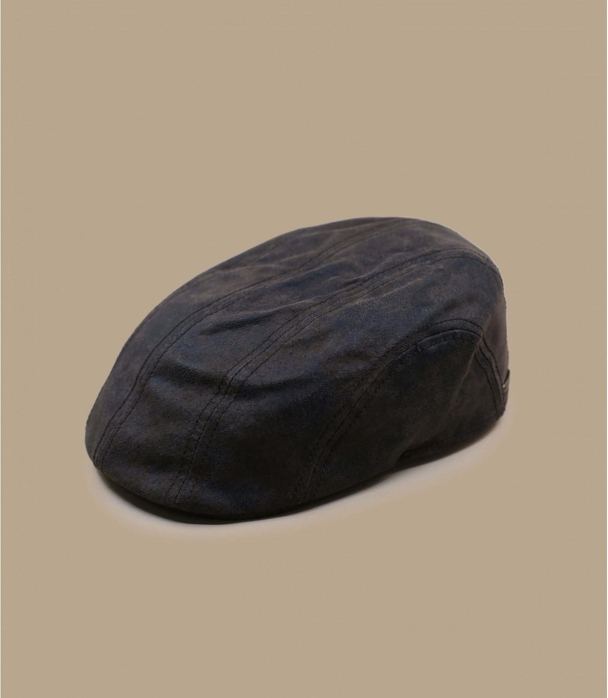 Cappellino piatto Stetson pelle