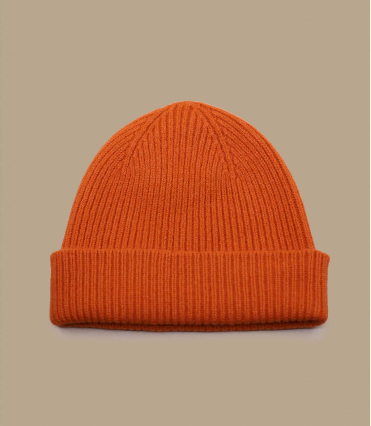 cappello bavero angora arancione