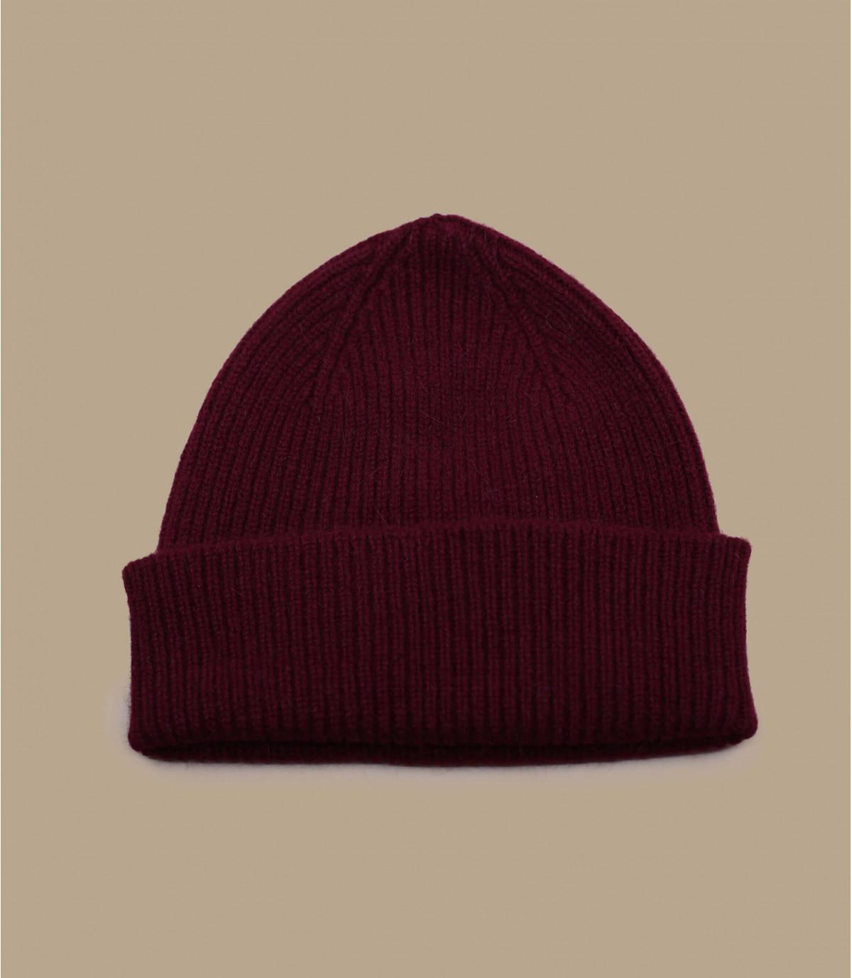cappello bavero bordeaux angora