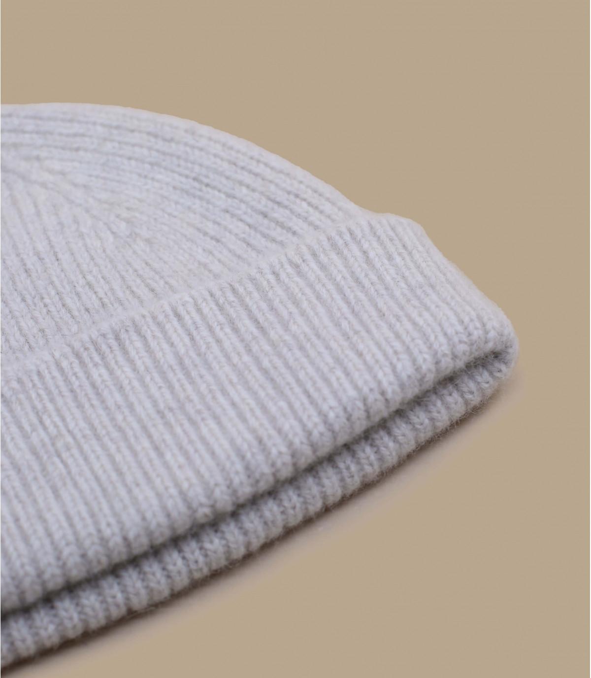 berretto di lana beige