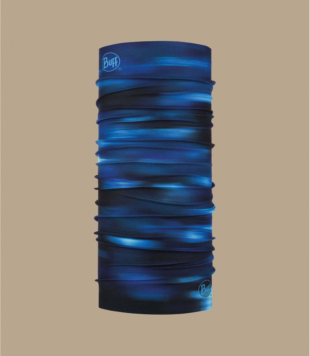Buff stampato nero blu