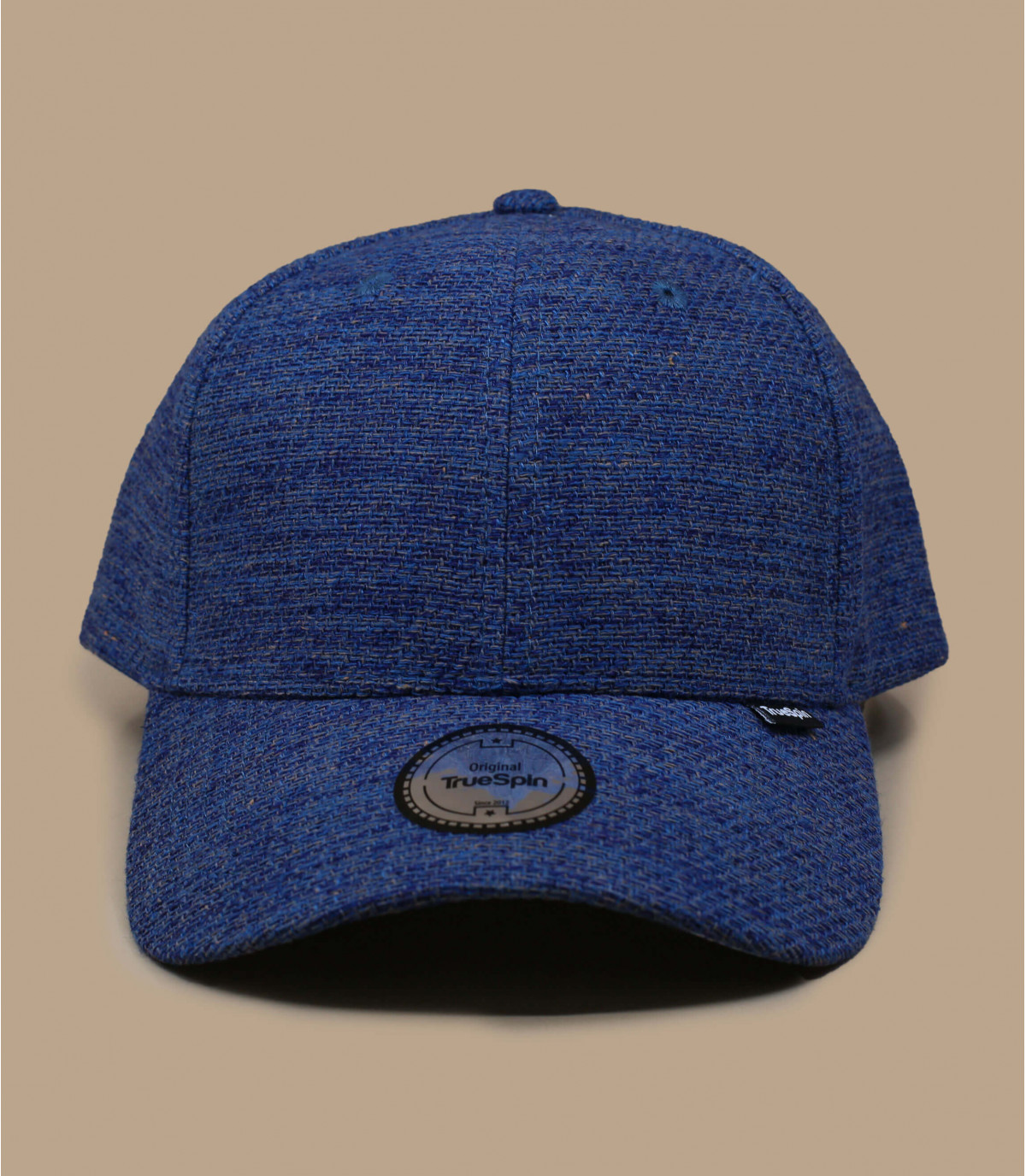 berretto in tela di cotone blu