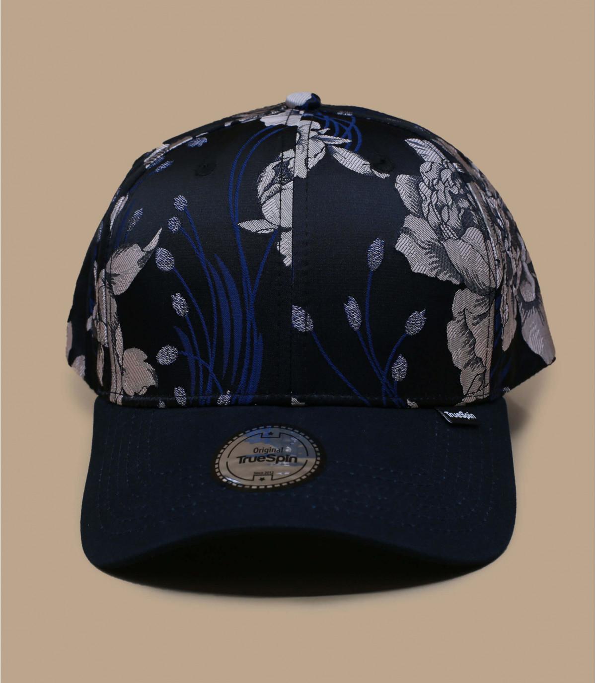 berretto fiori blu
