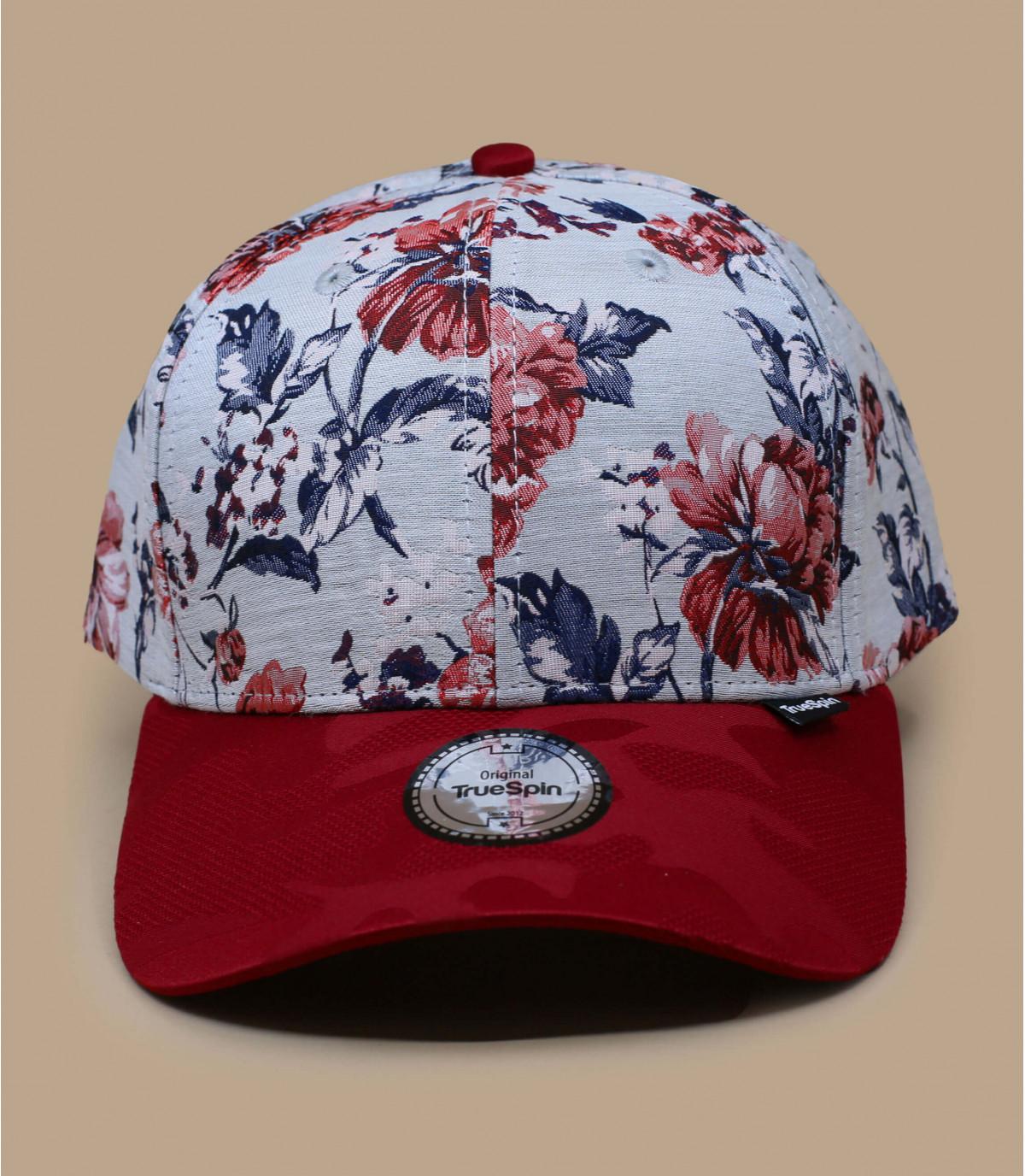 berretto fiori rossi