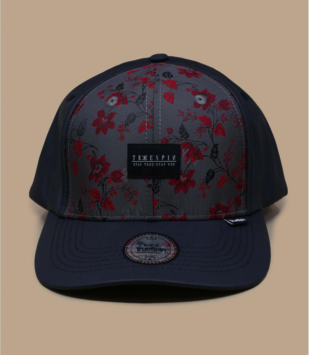 berretto in pelle fiore