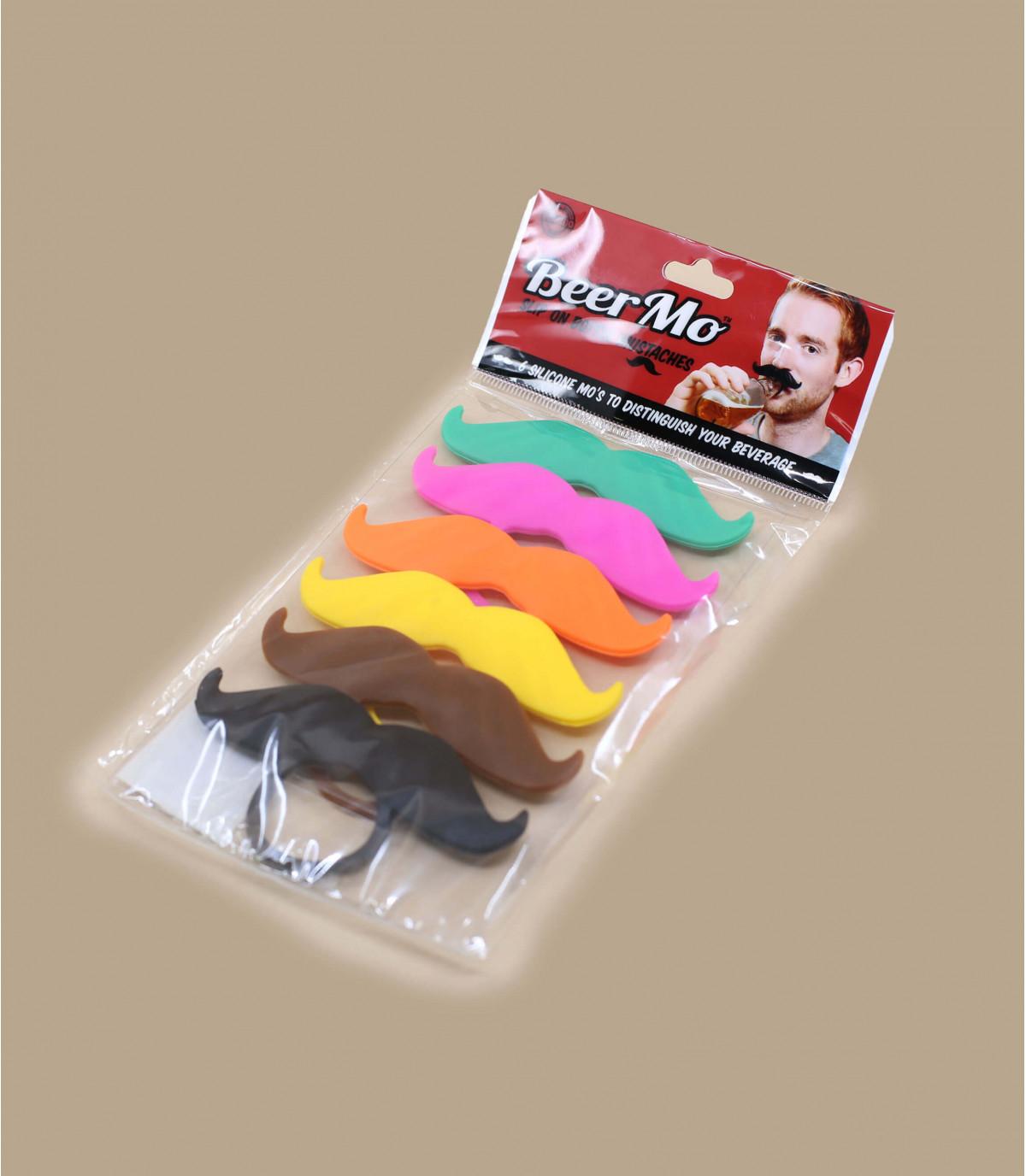 Moustache de couleur