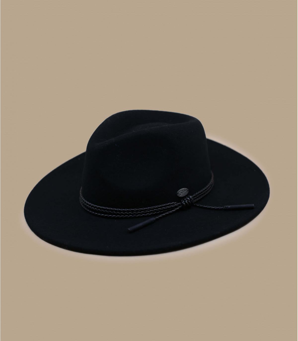 cappello di feltro nero a tesa larga