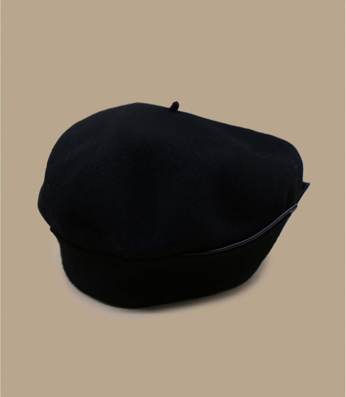 basco polsino in pelle nera