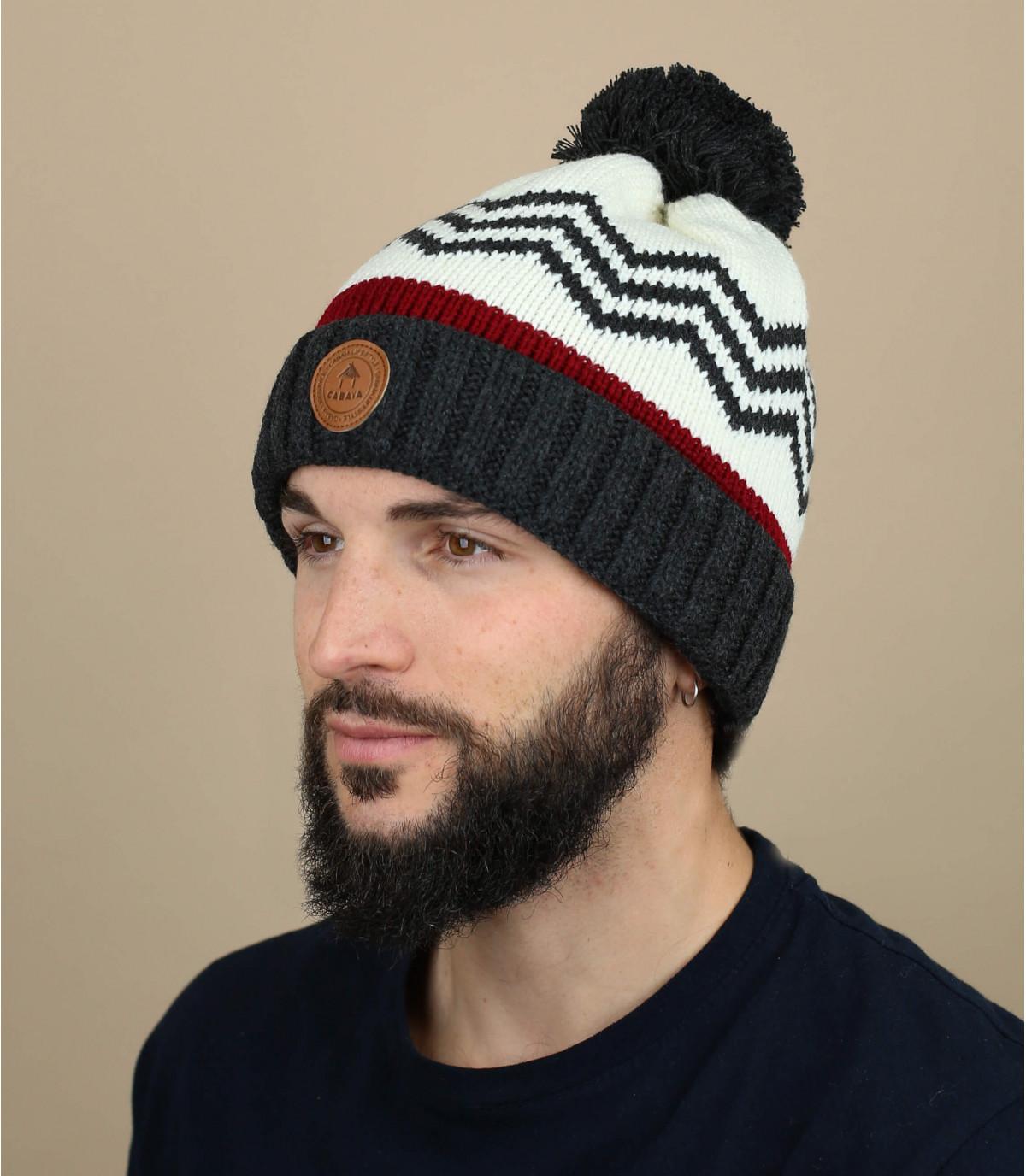 cappello a righe tricolore