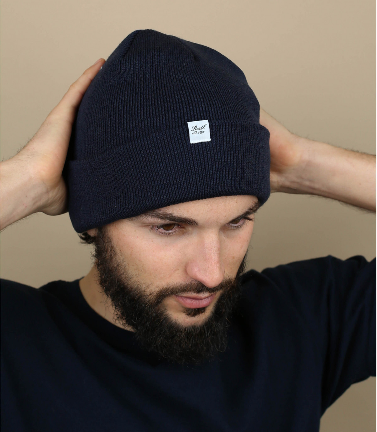 cappello reversibile blu Reell
