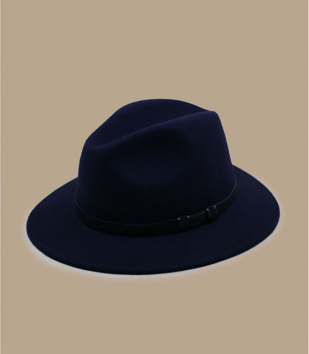 fedora di lana blu