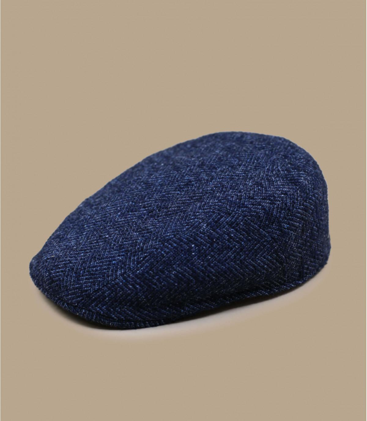 lana di bue a spina di pesce blu