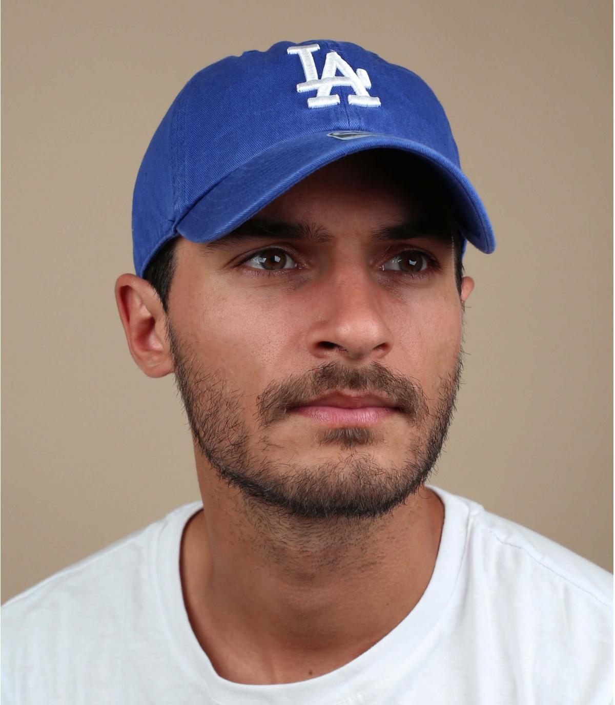 Cappellino visiera curva LA blu