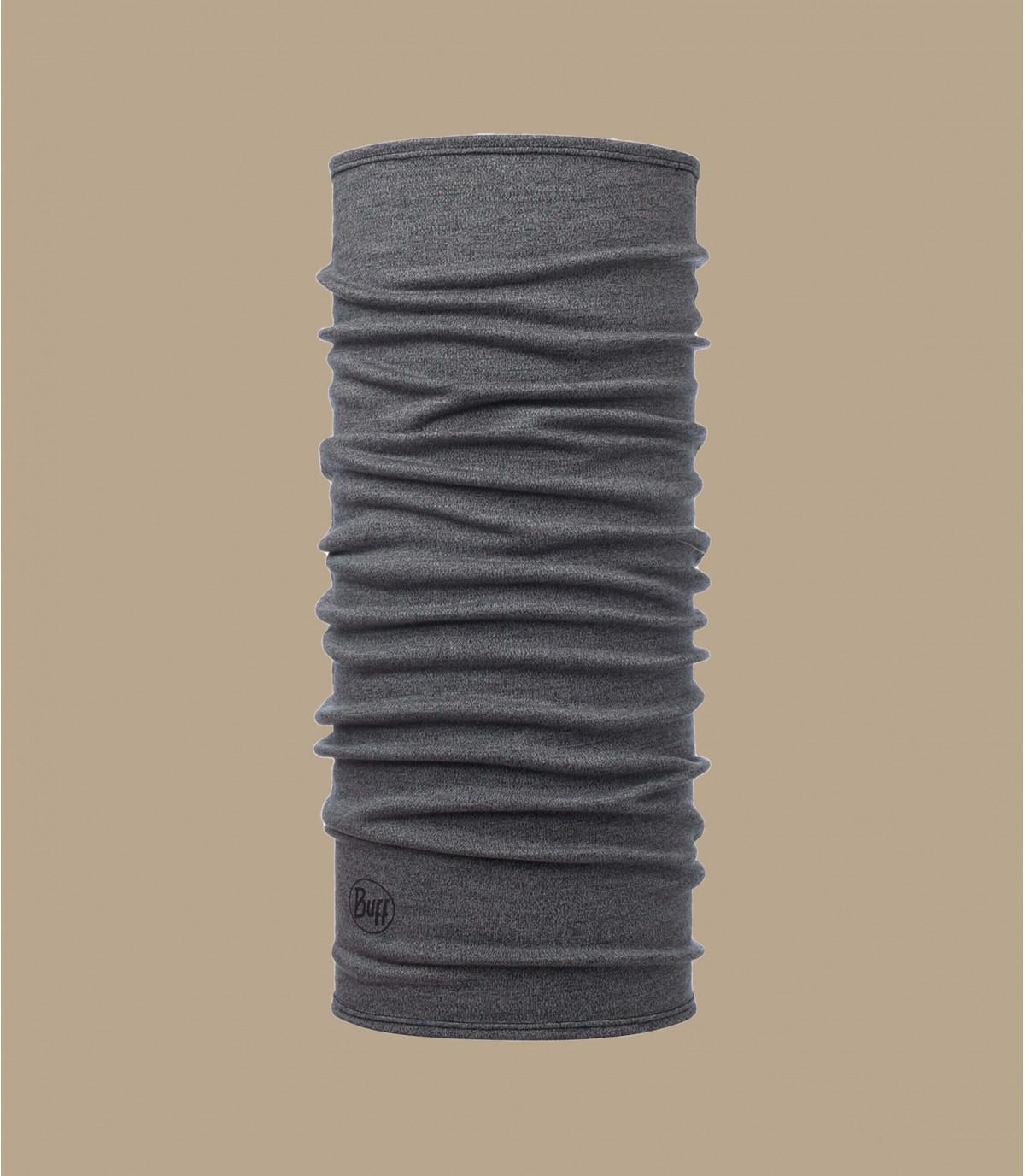 Buff in lana merino grigio melange