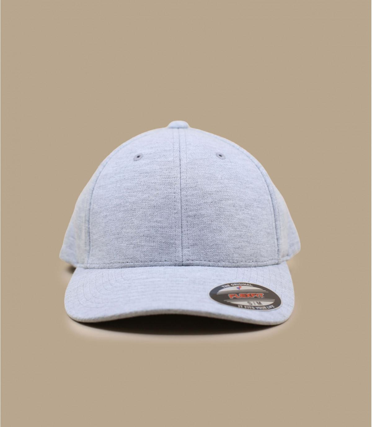 Cappellino jersey grigio
