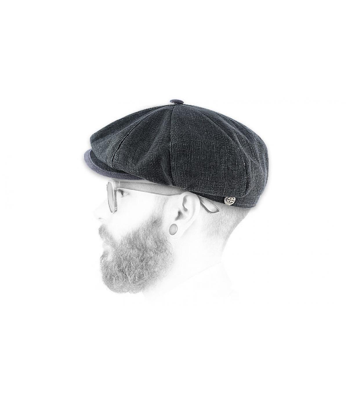 Gatsby Gavroche Nel Grigio Uomo Vostro Cappellino Lino n8SxTdfw