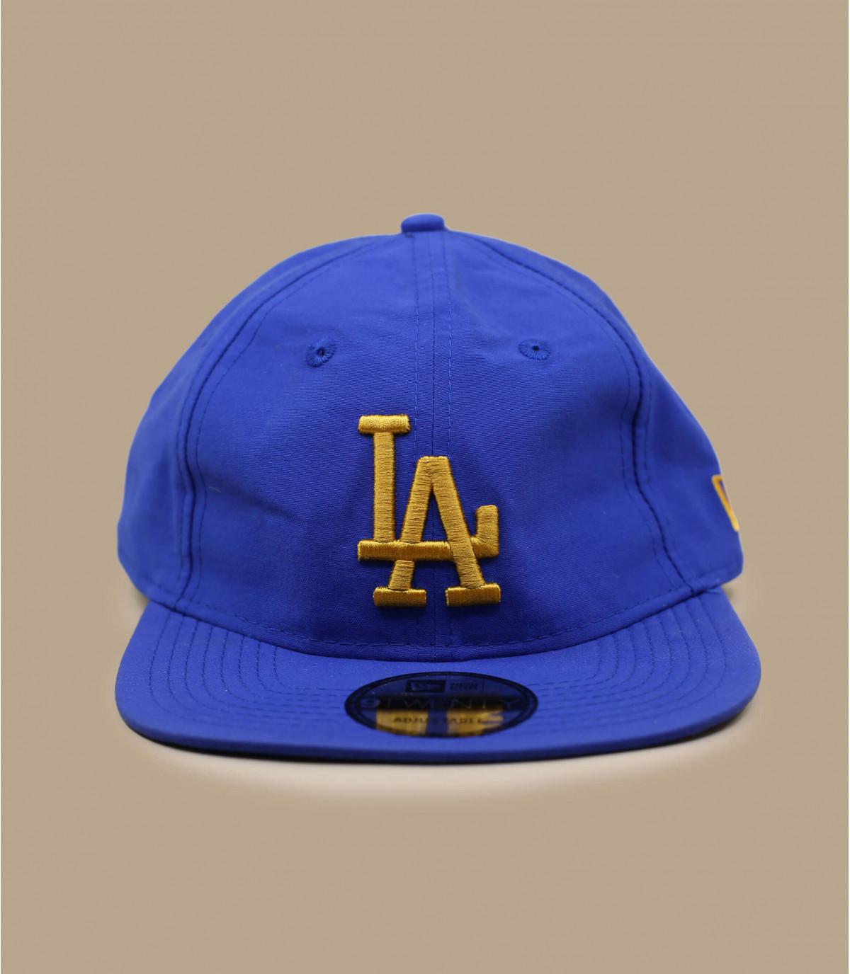 Cappellino blu pieghevole LA