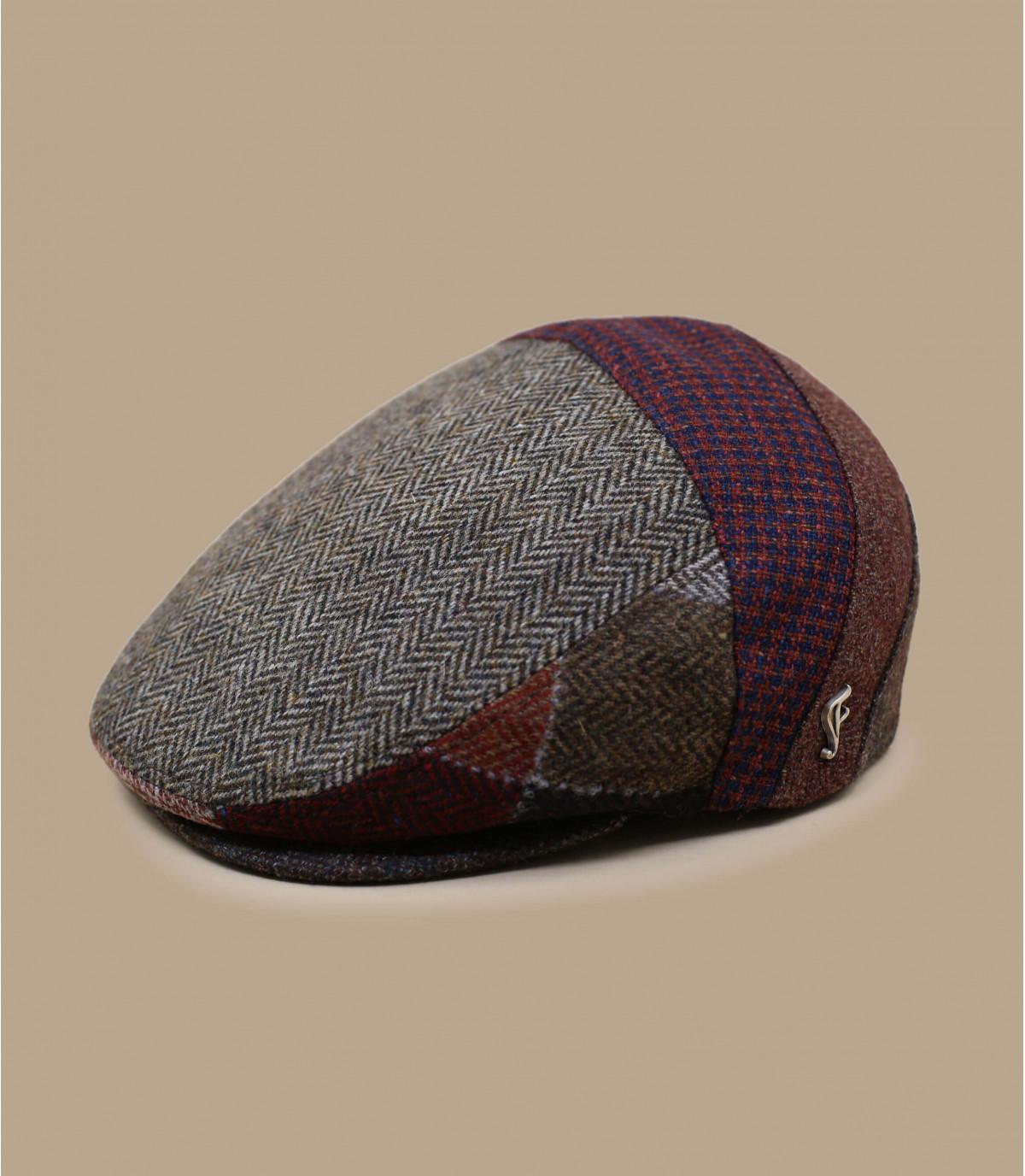 berretto di lana beige bordeaux