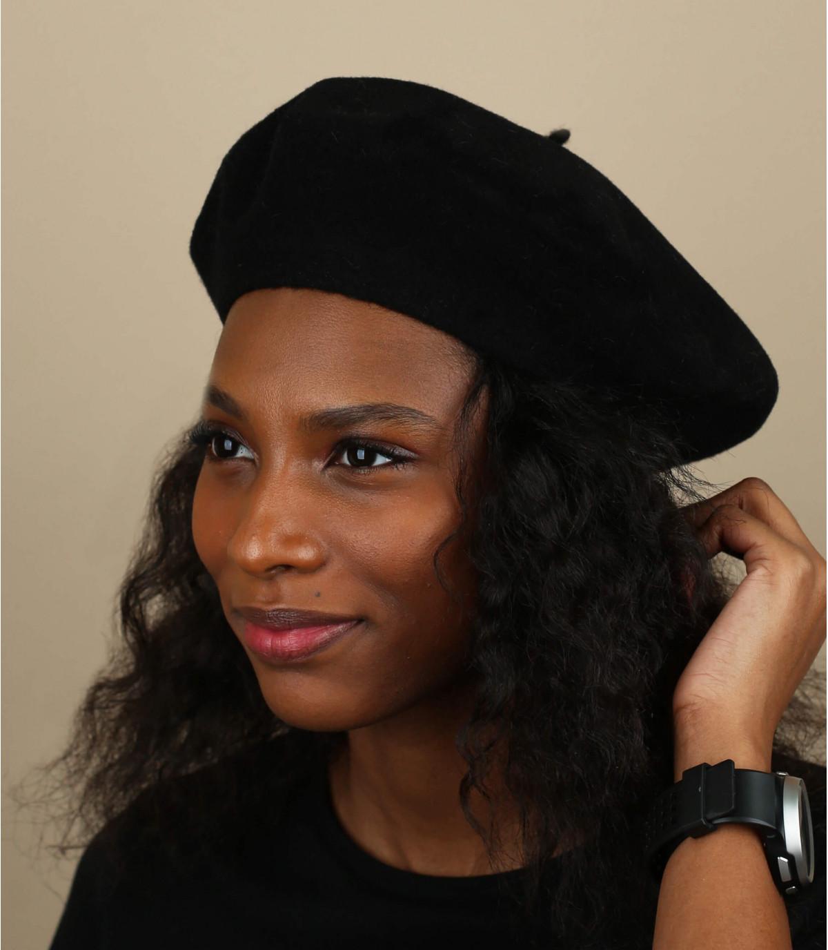 Berretto nero donna