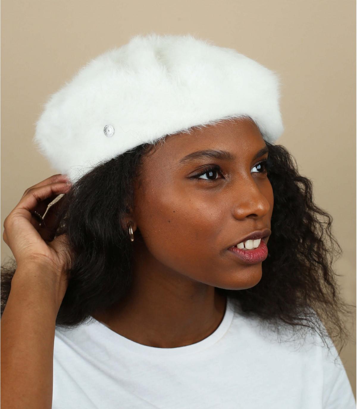 angora bianco berretto Laulhère