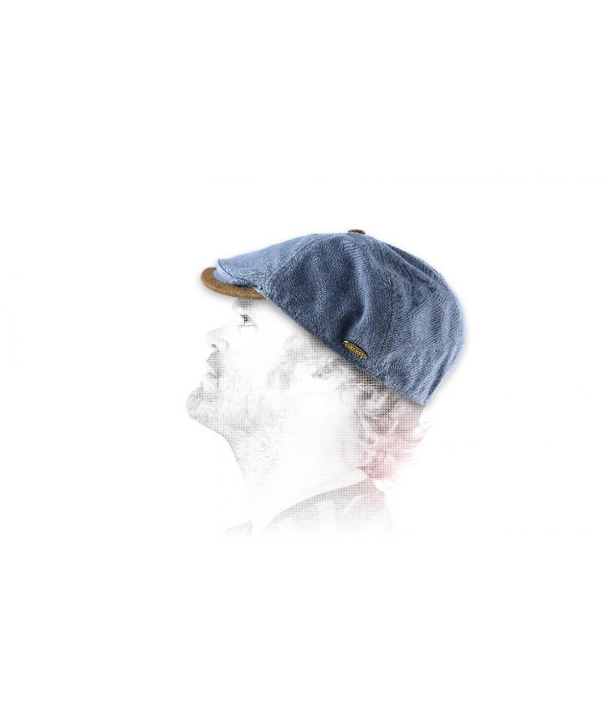 Cappellino piatto denim Fléchet