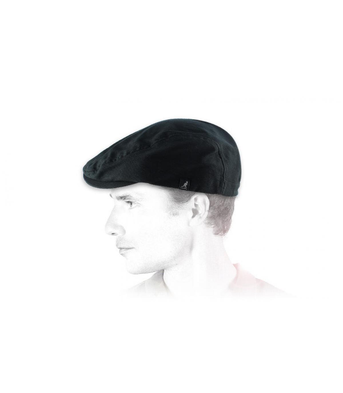 Cappellino piatto nero Kangol