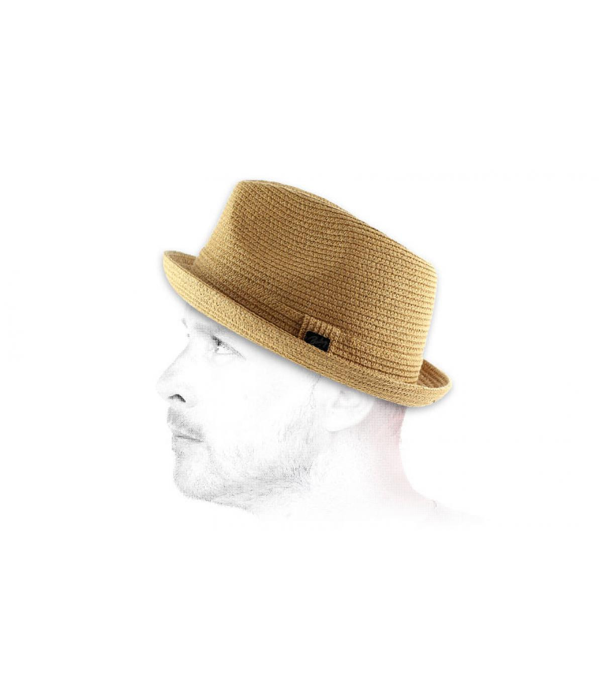 Cappello paglia trilby uomo