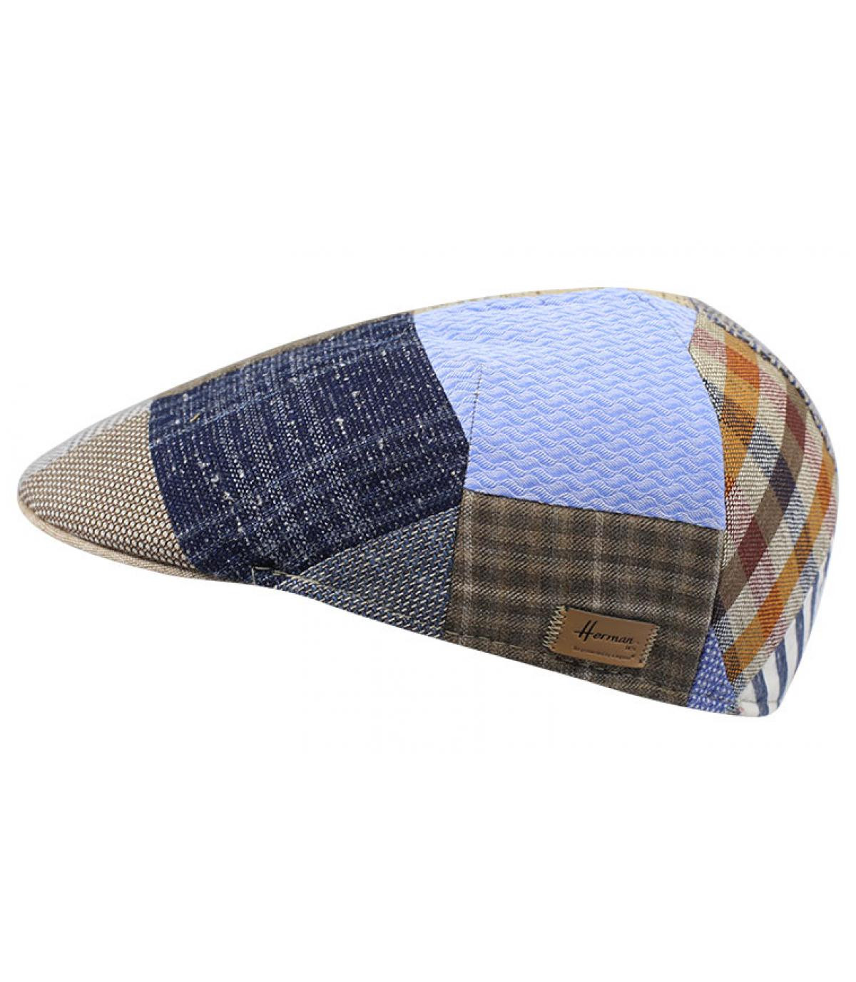 Cappellino piatto patchwork