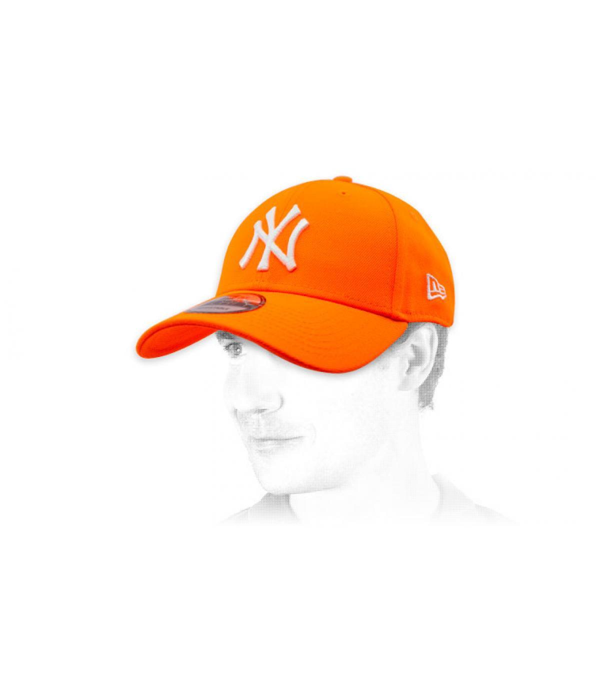 Cappellino NY arancione fluo