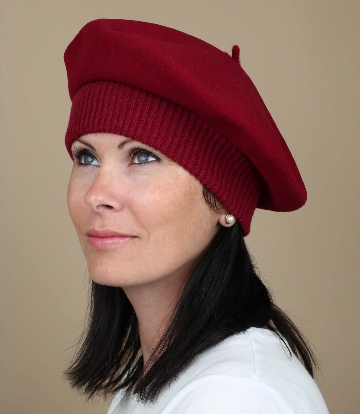 Berretto elastico rosso