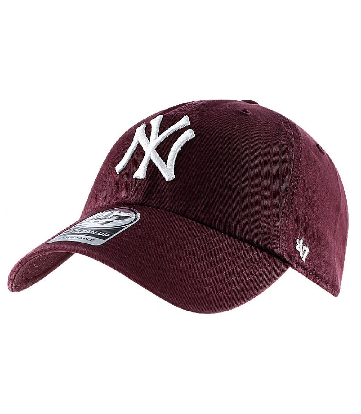 Cappellino visiera curva Bordò NY