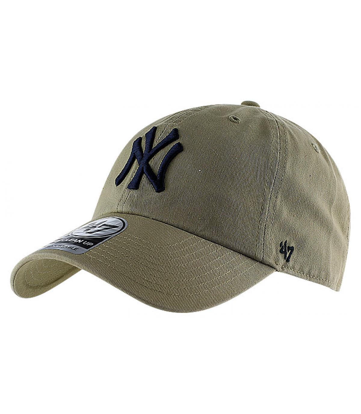 Cappellino visiera curva NY beige